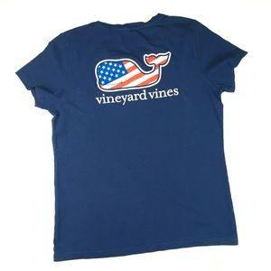 Vineyard Vines American Flag Navy Tee